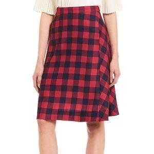 Draper James Plaid Collection Pleated Mini Skirt